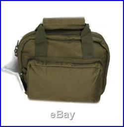 11 OD GREEN Padded PISTOL BAG Range Hand Gun Soft Case Hunting Lockable Army
