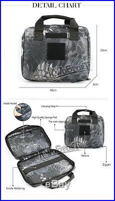 12 Tactical Military Padded Pistol Hand Gun AEG Magazine Carry Case Bag Pouch