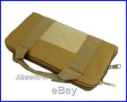 14 Airsoft Tactical Nylon Padded Pistol Hand Gun Magazine Carry Case Bag Tan