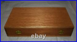 14 X 8 Vintage 1960s-1970s Large Handgun Wooden Carrying Case Rare Quality