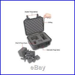 18 Gun Hard Shell Case Weatherproof Carry Box for Handguns Pistols Ammunition