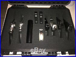 18 Tactical 10 Gun Handgun Pistol Weatherproof Hard Shell Carry Case Glock Colt