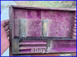 19th C Vintage Rare Collectible Hand Forged Remo & Co. Ltd Bombay Gun Case Box