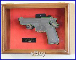 1 Single Pistol Handgun Revolver Gun Cabinet Display Case Wall Rack Box Replica