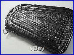 #278 EXTRA-LARGE BLACK OBLONG PISTOL CASE made by BLUEHORN CUSTOM LEATHER