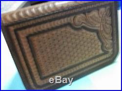 #317 MEDIUM SQUARE HONEYCOMB PISTOL CASE Made by BLUEHORN CUSTOM LEATHER