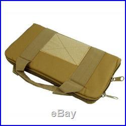 3X Tactical Nylon Padded Pistol Holster Hand Gun Bag Magazine Pouch Case Tan
