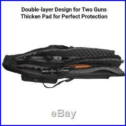 48 Tactical Dual Gun Shotgun Bag Hunting Rifle Case Hand Shoulder Bag Pouch