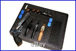 4 Large Revolver pistol handgun gun foam insert kit fits your Pelican 1550 case
