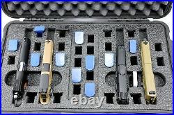 4 pistol handgun foam insert for your Harbor Freight Apache 5800 case +nameplate