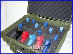 5 pistol Quickdraw handgun foam insert fits your Pelican 1550 case +nameplate