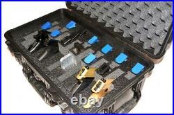 6 pistol 19 mag handgun Pistol foam insert fits Pelican 1510 case +nameplate
