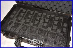 6 pistol 24 mag handgun Pistol foam insert fits Pelican 1510 case +nameplate