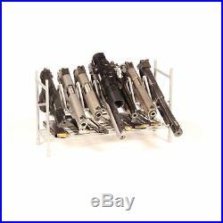 7 Pistol Hand Gun Rack Storage Display Safe Stand Holder Revolver Magazine Case