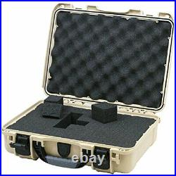 910 Professional Hand Gun/Pistol Case, Military Approved, Single Tan