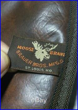 A Moose Brand Soft Hand Gun Case Brown. Inside 13.5 X 6.25 At Widest Point