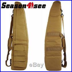 Airsoft 37.5'' Tactical Padded Gun Rifle Hand Bag Case & Shoulder Strap Tan