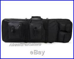 Airsoft Tactical Dual Rifle Gun Case Shotgun Bag Hand Shoulder Backpack 85cm/33