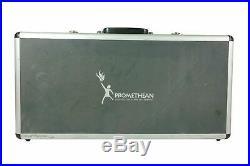 Aluminum Gun Storage Carry Case Framed Locking Pistol Hand Gun Lock Box Hard