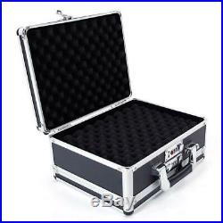 Aluminum New Framed Lock Gun Pistol HandGun Lock Box Hard Storage Suitcase BF#
