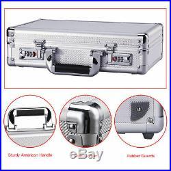 Aluminum Password Lock Pistol Gun Case Hard Storage Carry Case Hand Safe Box