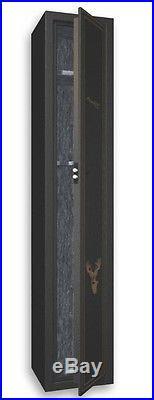 American Furniture Classics 5 Gun Metal Gun Cabinet Display Case Safe