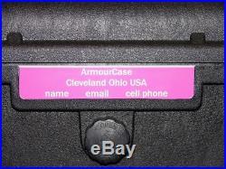 ArmourCase rifle Gun case includes pluck foam equiv. Pelican 1720 +nameplate