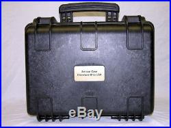 Armourcase 1450 holds 4 Tactical Pistols + 24 mags equiv. Pelican im2200 case
