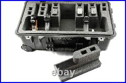 Armourcase 1510 case includes 4/6 pistol handgun+12 mags foam storage no wheels