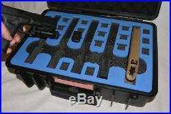 Armourcase HD Waterproof + Pelican 1500 Blue Top precut 5 Pistol Gun case foam