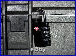 Armourcase includes Pelican 1550 6 pistol handgun foam storage +1500D +nameplate