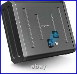 Biometric Finger Print Gun Safe with Keys Pistol Firearm Case Jewelry Cash Storage