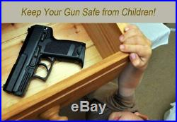 Biometric Fingerprint Lock Handgun Safe Key Keypad Silent Gun Case Quick Access