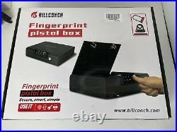 Biometric Gun Pistol Safe Metal Steel Box Case Firearm Secure Cable Fingerprint