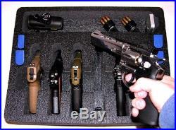 Black ArmourCase fits 6 large Revolver Pistols equiv. Pelican 1550 case +bonus