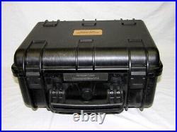 Black Armourcase 1450 case includes precut 4 pistol handgun foam free nameplate
