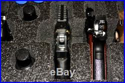 Black Armourcase 1610 case includes precut 6 Revolver Pistol case foam + Bonus