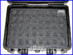 Black Armourcase Waterproof 1450 case includes precut 39 Mag Magazine case foam