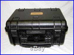 Black Armourcase Waterproof 1450 case + precut Quickdraw 5 pistol handgun foam