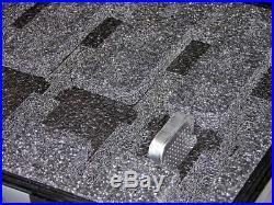 Black Armourcase + precut 4 pistol handgun foam case equiv Pelican 1450 case