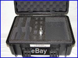 Black Armourcase with Quickdraw 2 pistol handgun foam equiv Pelican 1450 case