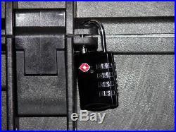 Black Armourcase with precut 5 pistol handgun foam equiv. Pelican 1450 case