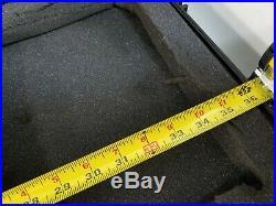 Black PELICAN Wheeled Wheels Rolling 1700 Long Rifle Gun Storage Case with Foam