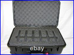 Black Pelican Hardigg Storm im2500 Case holds 6 Pistols & 15 mags Nameplate