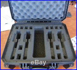 Black Seahorse SE630FP4 4 Handgun case with foam & Pelican TSA lock