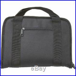 Black Soft Case Zip-Around Pistol Rug, Range Hand Gun Padded Carry Storage Pouch