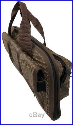CAPE BUFFALO HIDE Handgun Pistol Revolver Shooting Range Case Bag Fits BERETTA