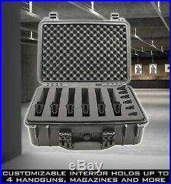 CM 18 Pistol Case for Hand Guns and Accessories, Waterproof Multi Gun Case