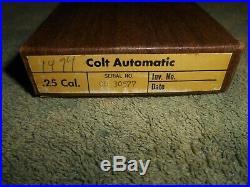 COLT 25 Semi-Automatic Factory Box Complete Set