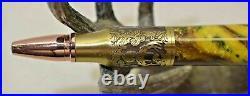 Camo Deer Hunter Pen Hand Turned Alumilite Resin Pewter with Gun Case Handmade